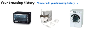 Recently Viewed Products allow customers to revisit their search history