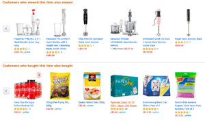 A recommendation engine generates relevant product recommendations on an ecommerce site to target users.