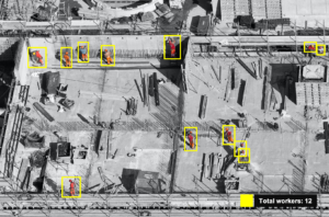 Use computer vision to identify number of workers at construction site