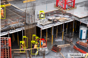 use computer vision to identify workers' productivity at construction sites
