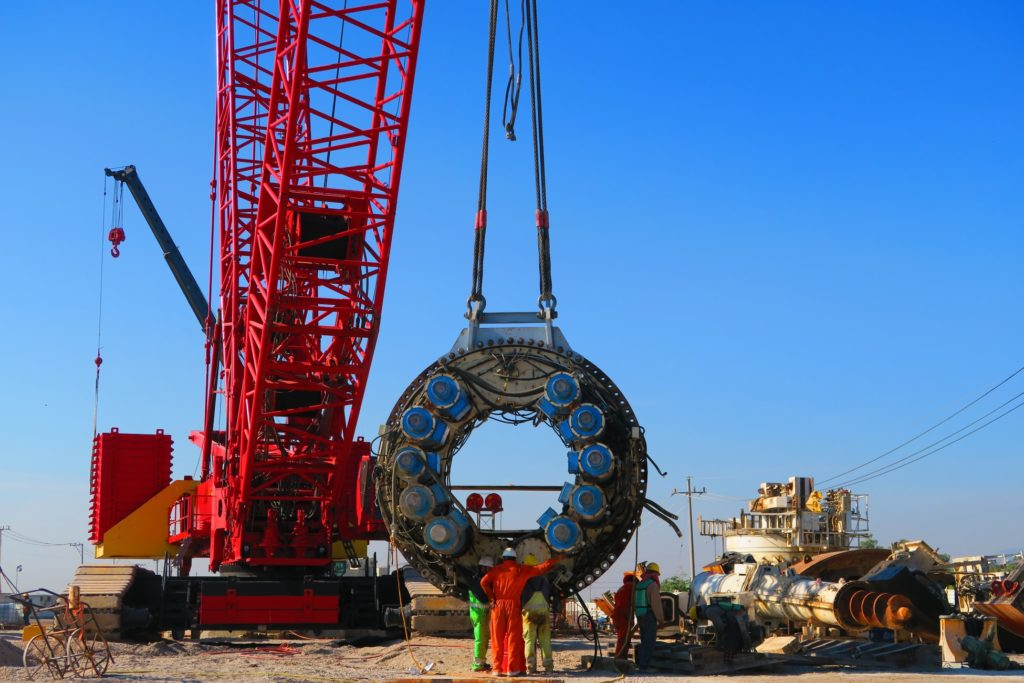 Tunnel Boring Machine at construction site