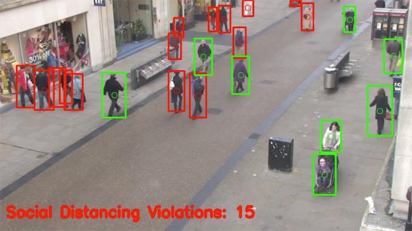 detect social distancing using computer vision